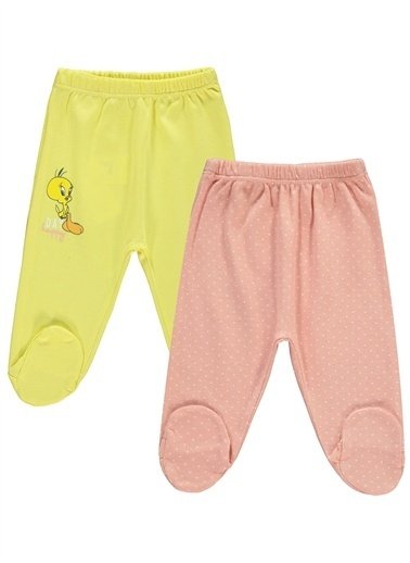 Tweety Tweety Kız Bebek 2'li Patikli Tek Alt 0-3  Ay Sarı-Karmelanj Tweety Kız Bebek 2'li Patikli Tek Alt 0-3  Ay Sarı-Karmelanj Sarı